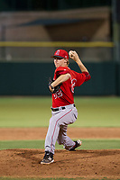 AZL Angels relief pitcher Simon Mathews (32) delivers a pitch during a game against the AZL Giants on July 10, 2017 at Scottsdale Stadium in Scottsdale, Arizona. AZL Giants defeated the AZL Angels 3-2. (Zachary Lucy/Four Seam Images)