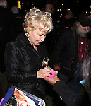 Bette Midler and RadioMan attends the Off-Broadway opening Night Performance After Party for 'Billy & Ray' at the Vineyard Theatre on October 20, 2014 in New York City.