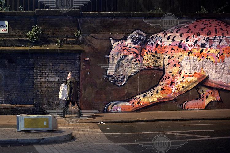 Street art in Camden Town, London....
