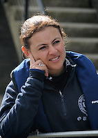 Putney. London. Tideway Week build up to the   2012 University Boat Race .  Championship Course - Putney to Mortlake. OUBC Blue Boat, Cox, Zoe DE TOLEDO. Tuesday  03/04/2012 [Mandatory Credit; Karon Phillips/Intersport-images]..