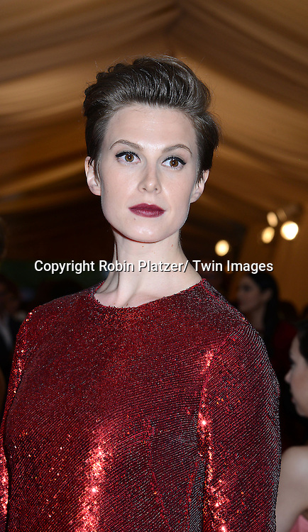 Elettra Wiedemann attends the Costume Institute Benefit on May 5, 2014 at the Metropolitan Museum of Art in New York City, NY, USA. The gala celebrated the opening of Charles James: Beyond Fashion and the new Anna Wintour Costume Center.