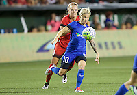 Portland, OR - Saturday July 30, 2016: Jessica Fishlock, Meleana Shim during a regular season National Women's Soccer League (NWSL) match between the Portland Thorns FC and Seattle Reign FC at Providence Park.