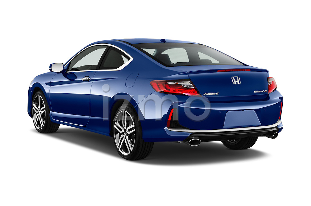 Car pictures of rear three quarter view of 2016 Honda Accord Touring 2 Door Coupe Angular Rear