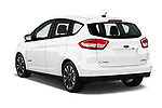 Car pictures of rear three quarter view of a 2018 Ford C-Max Hybrid Titanium 5 Door Mini Van angular rear
