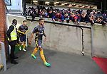 Arsenal's Theo Walcott leads his team out for a warm up late during the Premier League match at Selhurst Park Stadium, London. Picture date: April 10th, 2017. Pic credit should read: David Klein/Sportimage