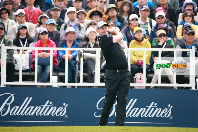 Ballantine's Championship 2013, Saturday. Round 3. Stephen Gallacher