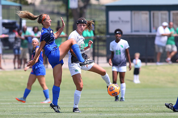 DENTON TEXAS: University of North Texas Mean Green Women's Soccer v Houston Baptist on September 3, 2017 at Mean Green Village Soccer Field in Denton TX. (Photo Rick Yeatts)