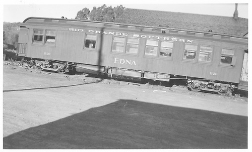 RGS business car &quot;Edna&quot; at Ridgway.<br /> RGS  Ridgway, CO