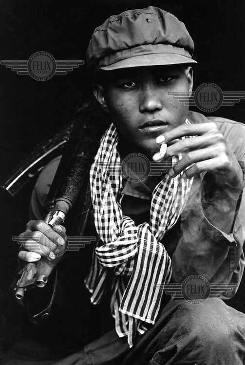 A young Khmer Rouge defector. Many Khmer fighters were granted amnesties if they defected to the government side. Finally, in 1998, they collapsed under the weight of defections during a government offensive.