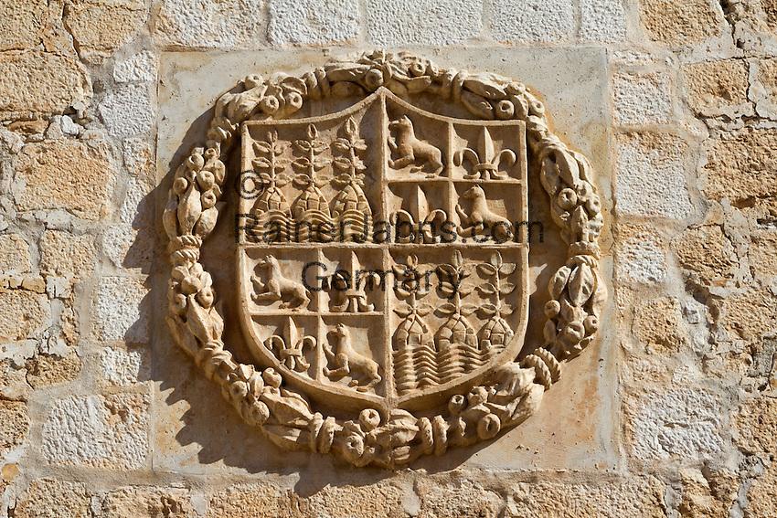 Spain, Andalusia, Province Almería, Vélez Blanco: Coat of Arms of Marques de Los Velez   Spanien, Andalusien, Provinz Almería, Vélez Blanco: Wappen der Marques de Los Velez