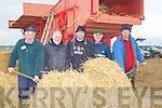 TRASHING: Given a demostration of trashing hay at the Abbeydorney ploughing competition on The Corridon Family Land,Abbeydorney on Sunday L-r: Connie Leen (Lixnaw), Danny Sinnott (Ardfert), Niall Murphy (Knocnagoshel), Michael Rimes (Firies) and Jack Murphy (Knocknagoshel).