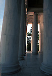 Pillars Thomas Jefferson Memorial Washington D.C., Pillars, The Thomas Jefferson Memorial Washington D.C.,The Thomas Jefferson Memorial, Jefferson memorial, Presidential Memorial in Washington DC, Thomas Jefferson, American founding Father, Third President of the United States, neoclassical, Designed by John Russell Pope, Philadelphia, done, portico, Tidal, Basin, Potomac River, West Potomac Park, Washington monument, National Mall and Memorial Parks, List of America's Favorite Architecture, American Institute of Architects, U.S. National Register of Historic Places, U.S. National Memorial, Washington D.C., Ron Bennett Photography, Stock Photography, Fine Art Photography, Fine Art Photography by Ron Bennett, Fine Art, Fine Art photo, Art Photography,