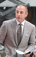 August 15, 2012 Matt Lauer on NBC's Today Show at Rockefeller Center in New York City. &copy; RW/MediaPunch Inc. /NortePhoto.com<br />