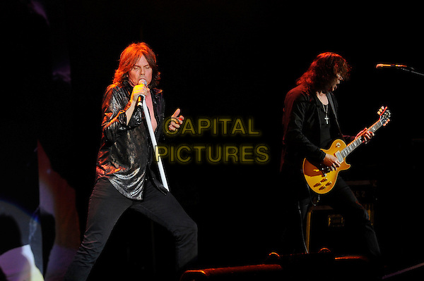 LONDON, ENGLAND - APRIL 13: Joey Tempest and John Norum of Europe performing at the Eventim Apollo on April 13, 2014 in London, England.<br /> CAP/MAR<br /> &copy; Martin Harris/Capital Pictures