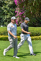 Louis Oosthuizen (RSA) and Sergio Garcia (ESP) depart the number 2 tee during round 3 of the World Golf Championships, Mexico, Club De Golf Chapultepec, Mexico City, Mexico. 3/3/2018.<br /> Picture: Golffile | Ken Murray<br /> <br /> <br /> All photo usage must carry mandatory copyright credit (&copy; Golffile | Ken Murray)