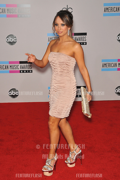 Cheryl Burke at the 2010 American Music Awards at the Nokia Theatre L.A. Live in downtown Los Angeles..November 21, 2010  Los Angeles, CA.Picture: Paul Smith / Featureflash