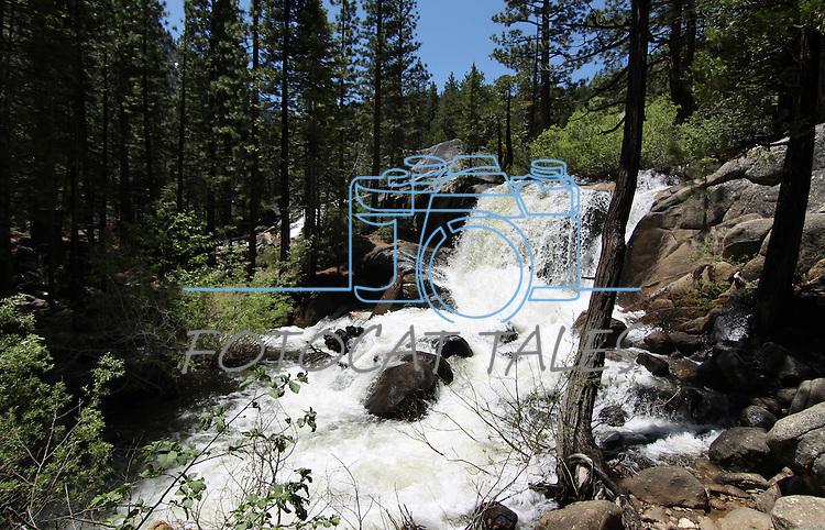 Hot Springs Creek Falls, seen Thursday, June 30, 2011, near Markleeville, Ca. .Photo by Cathleen Allison