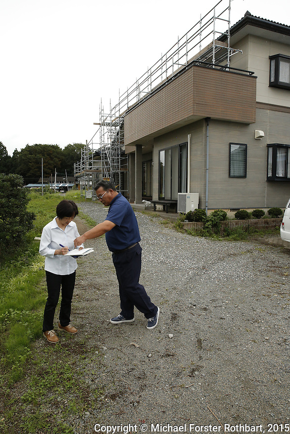 Civil engineer Kenichi Hayashi is one of 15,800 evacuees from Tomioka, a town in the Fukushima exclusion zone. He is also a decontamination supervisor working for Maruto, a construction company cleaning up Tomioka. Hayashi gives a tour of his former home and fields, which are currently getting decontaminated. Full caption to come.<br /> <br /> &copy; Michael Forster Rothbart Photography<br /> www.mfrphoto.com &bull; 607-267-4893<br /> 34 Spruce St, Oneonta, NY 13820<br /> 86 Three Mile Pond Rd, Vassalboro, ME 04989<br /> info@mfrphoto.com<br /> Photo by: Michael Forster Rothbart<br /> Date:  9/18/2015<br /> File#:  Canon &mdash; Canon EOS 5D Mark III digital camera frame B14793