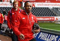 Nathaniel Clyne of Liverpool during the Barclays Premier League match between Swansea City and Liverpool played at the Liberty Stadium, Swansea on 1st May 2016