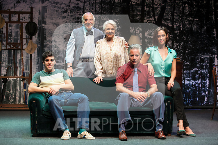Spanish actresses Lola Herrera and Luz Valdenebro and actors Hector Alterio, Camilo Rodriguez and Adrian Lamana perform during `El lago dorado´ theater play in Madrid, Spain. August 17, 2015. (ALTERPHOTOS/Victor Blanco)