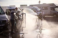 post-race clean<br /> <br /> UCI Cyclocross World Cup Heusden-Zolder 2015