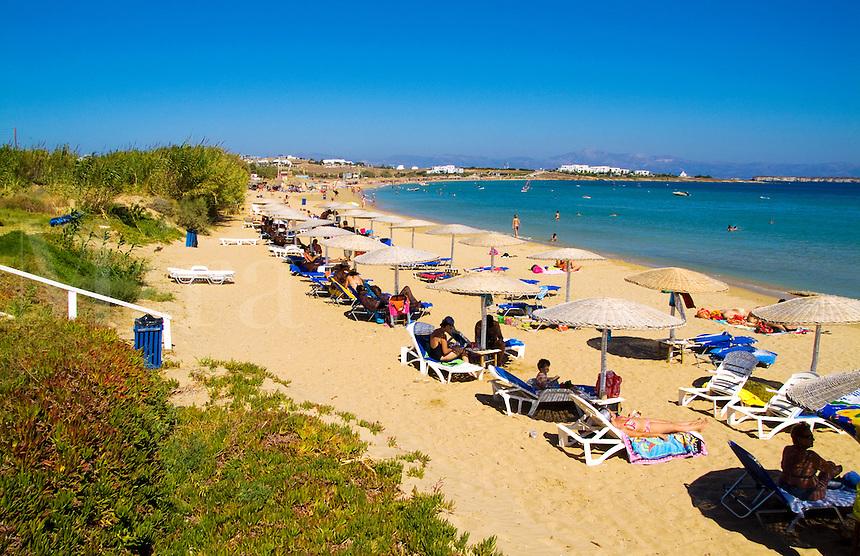 Beach called Golden Beach, Island of Paros, Greece