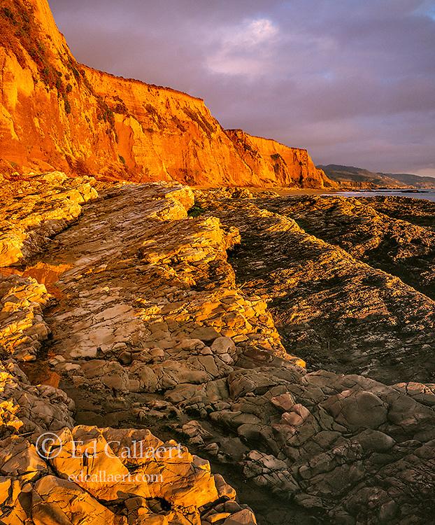 Sunset, Sculptured Beach, Point Reyes National Seashore, Burton Wilderness, Marin County, California