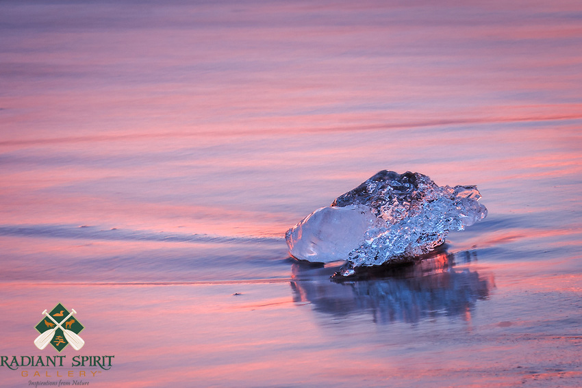 """""""Park Point Gem""""<br /> As the ice dunes break down along the beach, Lake Superior reclaims them. It waa a challenge to capture their beauty before the sun-kissed surf carried them away."""