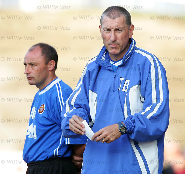 Terry Butcher & Maurice Malpas, Motherwell..stock season 2004-2005.pic willie vass