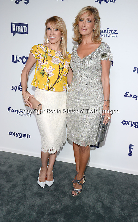 Ramona Singer and Sonja Morgan attend the NBCUniversal Cable Entertainment Upfront <br /> on May 15, 2014 at The Javits Center North Hall in New York City, New York, USA.