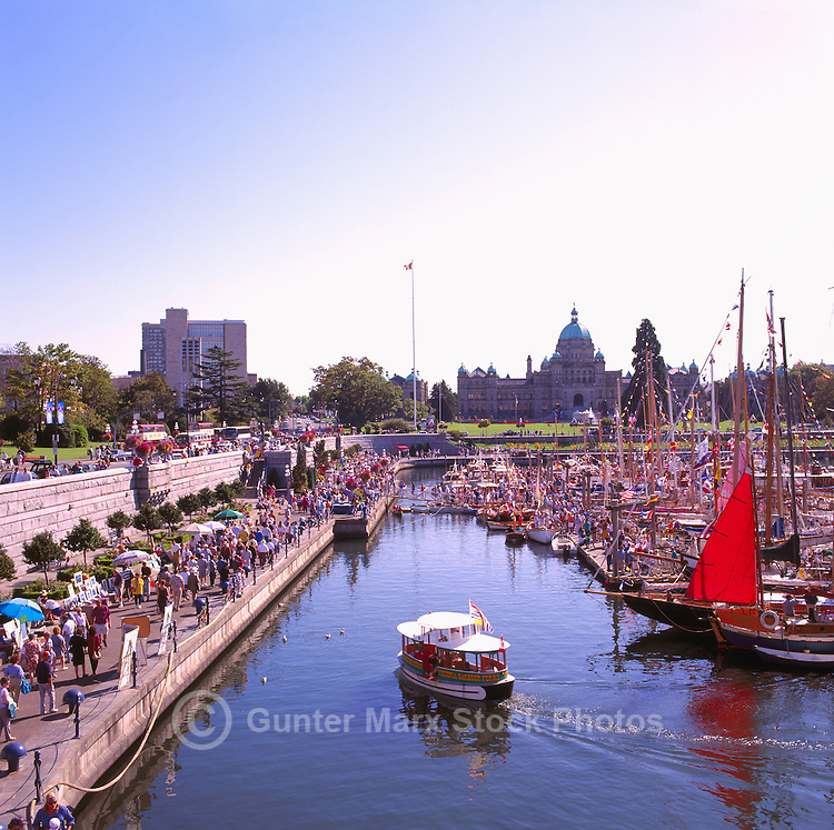 Victoria, BC, British Columbia, Canada, Vancouver Island - Inner Harbour along Causeway