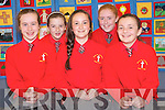 A special patchwork quilt created by pupils in Kerry is on display in Killarney Library to mark the Eurcharistic Congress. .Front L-R Emma Lenihan, Lamia Switzer and Sinead Collins. .Back L-R Leonie Baker and Fiona Toner.