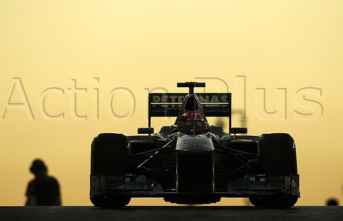 11.11.2011 Abu Dhabi, United Arab Emirates.  Grand Prix of Abu Dhabi 07 Michael Schumacher ger Mercedes GP Petronas F1, during the practice session at the FIA Abu Dhabi Grand Prix in the UAE.