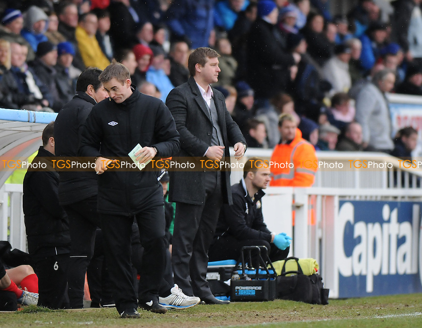 MK Dons Manager Karl Robinson - Hartlepool United vs MK Dons - NPower League One Football at Victoria Park, Hartlepool - 29/03/13 - MANDATORY CREDIT: Steven White/TGSPHOTO - Self billing applies where appropriate - 0845 094 6026 - contact@tgsphoto.co.uk - NO UNPAID USE