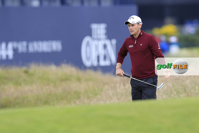 Danny WILLETT (ENG) at the 17th green during Monday's Final Round of the 144th Open Championship, St Andrews Old Course, St Andrews, Fife, Scotland. 20/07/2015.<br /> Picture Eoin Clarke, www.golffile.ie