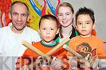 Sensei Niall Wright pictured with Seamus Kelly, Tara Coffey and Aaron Arthur Bijou, Killarney, at the White Lightening Karate open day in Killarney on Saturday.