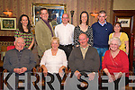 Nancy Hegarty, Park Road, Killarney, pictured with her husband David, Steve and Mary Courtney, Maureen and Thys Vogels, Alan and Lisa O'Meara, Paul Mitchel and Nora Corbett, as she celebrated her 70th birthday in The International Hotel on Sunday night.........