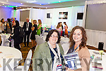 Mary McAuliffe, pictured with her sister Bridget McAuliffe, was a speaker at the International Business Women's Conference which took place in the Brandon Hotel Tralee on Monday afternoon.