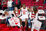 Wisconsin Badgers guard Jordan Taylor (11) talks with fans after a Big Ten Conference NCAA college basketball game against the Illinois Fighting Illini on Sunday, March 4, 2012 in Madison, Wisconsin. The Badgers won 70-56. (Photo by David Stluka)