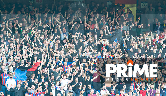 Crystal Palace fans during the Premier League match between Crystal Palace and Everton at Selhurst Park, London, England on 10 August 2019. Photo by Andrew Aleksiejczuk / PRiME Media Images.