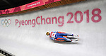 Ondrej Hyman (CZE). Mens luge. Pyeongchang2018 winter Olympics. Alpensia sliding centre. Alpensia. Gangneung. Republic of Korea. 11/02/2018. ~ MANDATORY CREDIT Garry Bowden/SIPPA - NO UNAUTHORISED USE - +44 7837 394578