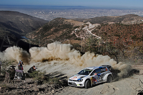 06.03.2014. GUANAJUATO, Mexico. The World Rally Championships (WRC) of Mexico.  Jari Matti Latvala (FIN) and Mikka Antilla (FIN) - Volkswagen Polo WRC