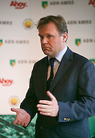 09-01-14, Netherlands, Rotterdam, TC Kralingen, ABNAMROWTT Press-conference, ABNAMRO'S Ernst Broekhorst explained the new three year continuation of the tournament. <br /> Photo: Henk Koster