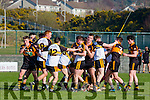 Austin Stacks and Dr Crokes players clash in Killarney on Sunday