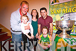 Eileen, Philip and Niamh and Ella Healy with the Sam Maguire in the Top of Coom.