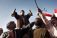 Muslim brotherhood supporters in Tahrir square