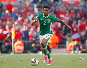 June 11th 2017, Dublin, Republic Ireland; 2018 World Cup qualifier, Republic of Ireland versus Austria; Cyrus Christie on an attacking run for Republic of Ireland