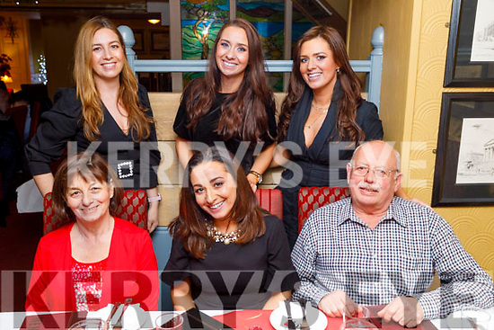 Joan Brosnan from Abbeydorney celebrating her birthday in the Brogue Inn on Saturday<br /> Seated: Catherine, Joan and  Ger Brosnan.<br /> Standing l to r: Marissa and Geraldine Brosnan and Martina McCarthy.