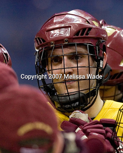 Andrew Orpik (Boston College - East Amherst, NY) takes part in the Eagles' Wednesday practice on April 4, 2007 at the Scottrade Center in St. Louis, Missouri, prior to their Thursday 2007 Frozen Four Semi-Final.