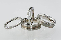 Joule Rings Platinum Gold Diamonds